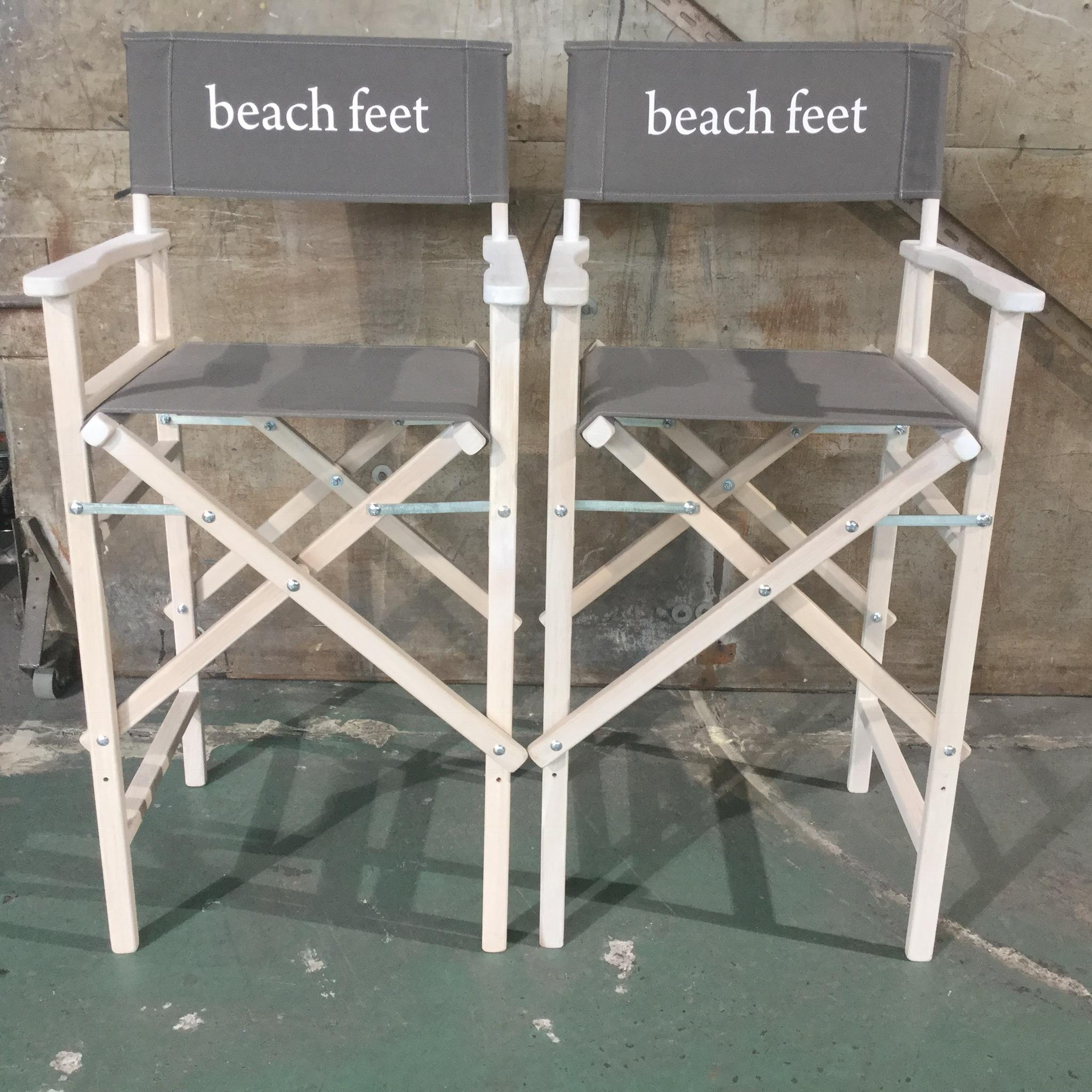 Make up Chair beach feet